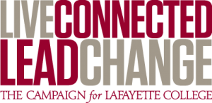Logo with text Live Connected, Lead Change, The Campaign for Lafayette College